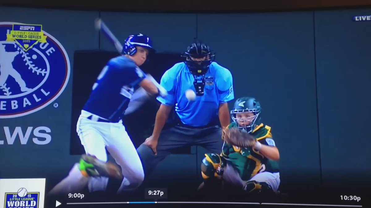 This reaction is even better than Cole Wagner's grand slam. #LLWS #LittleLeagueWorldSeries http://t.co/3Lsx9mkOKf