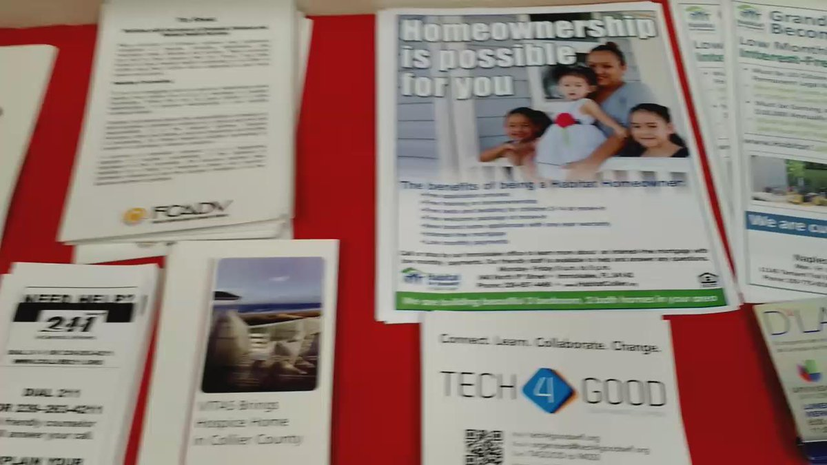 An overflowing table of hand-out at Immokalee Interagency Council meeting #godigital #socialmedia http://t.co/9AYYnjcGZV