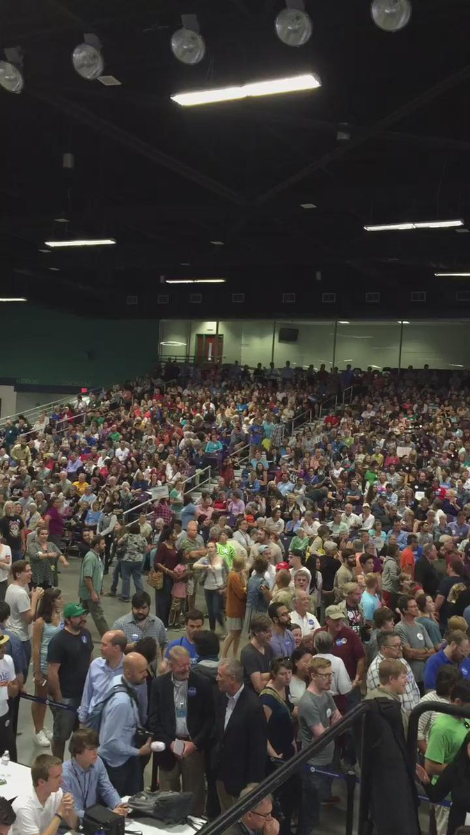 14 months from the U.S election and this is the crowd Bernie Sanders pulls in Greensboro, North Carolina. http://t.co/zGrN7k3Ml3