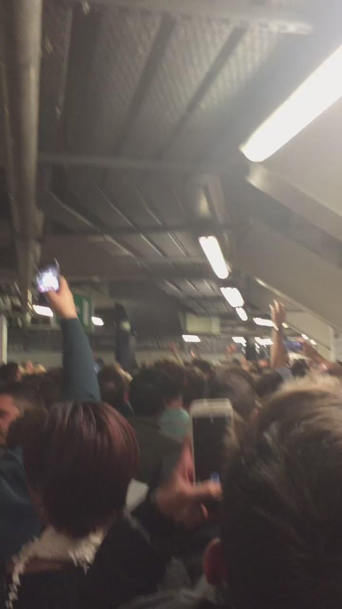 Locked in the away end http://t.co/UGslqiBeGS