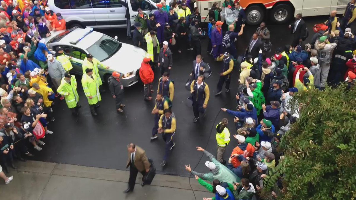 #NotreDame has arrived at Clemson. http://t.co/szy1U2gtAU