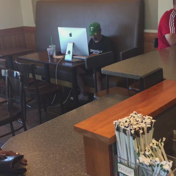 My guy brought his whole computer to Starbucks this can't be life http://t.co/PbXCXxCAd8
