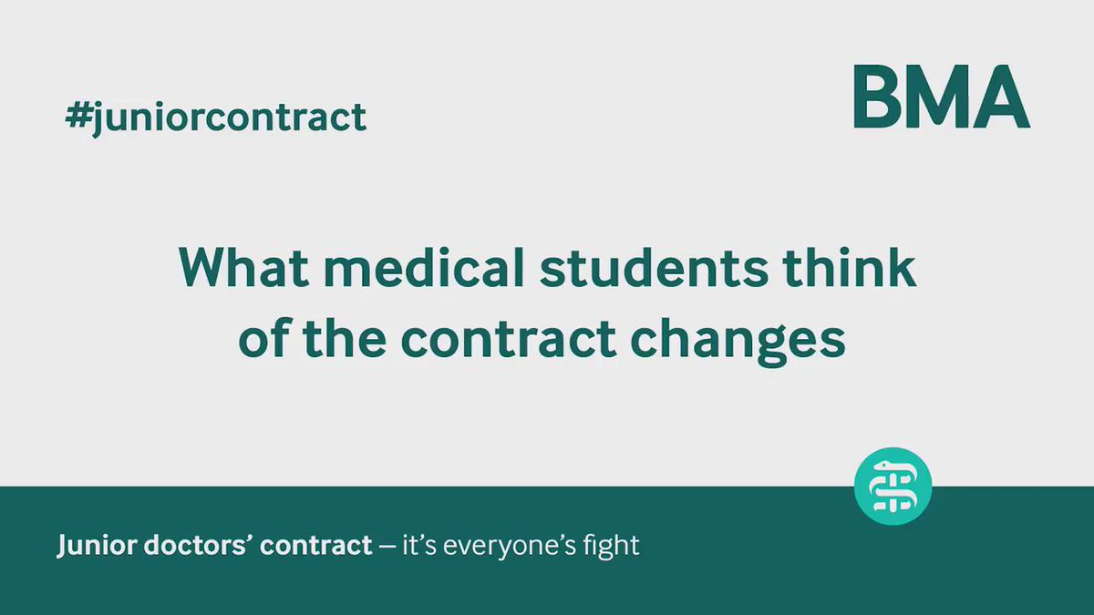 'I don't want to be working in an NHS where the contract isn't safe' — #medicalstudents on #juniorcontract @TheBMA https://t.co/eQ54L6pmKX