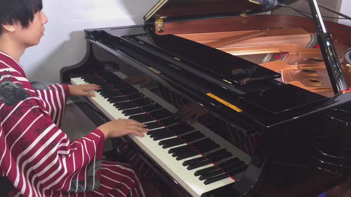 """アニメ艦これEDの吹雪をバイオリンとピアノで弾いてみたよ〜! Anime KanColle ED """"Fubuki""""  バイオリン TAM @TAMUSIC  ピアノ 紅い流星 @akairyusei https://t.co/1esVbovv9f"""