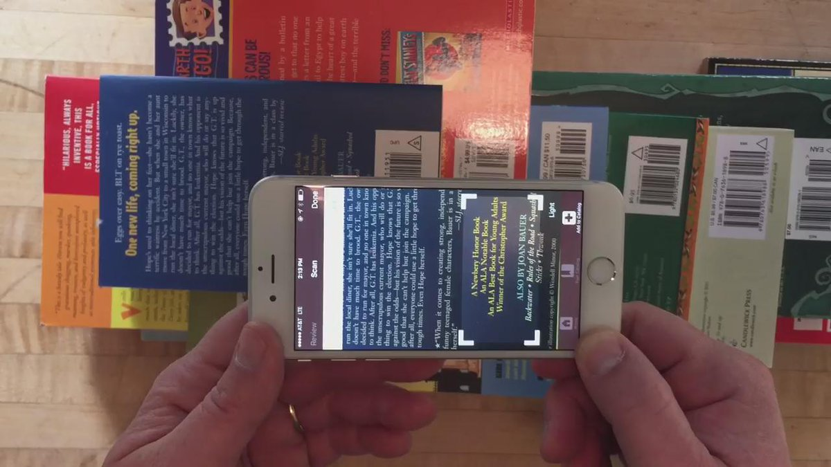 """Ten books cataloged in ten seconds!"" with the new @LibraryThing iPhone app. https://t.co/EGCBVyikU7 https://t.co/uFkSdx5HlK"