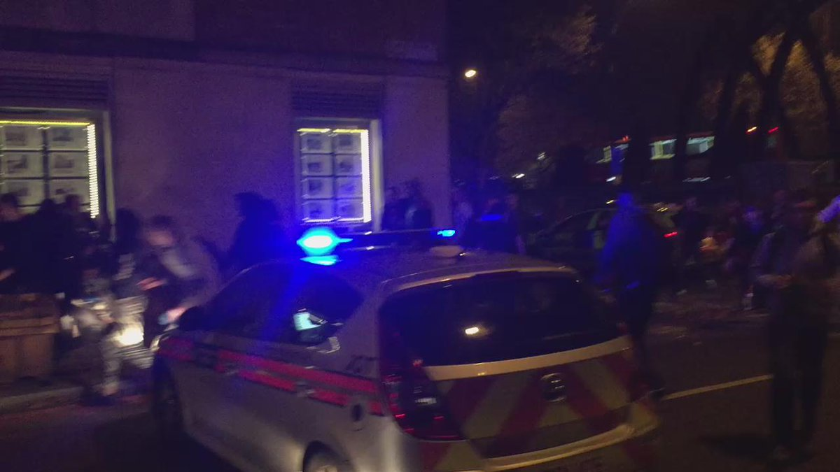 Halloween rave party turns into chaos as revellers bombard London riot police