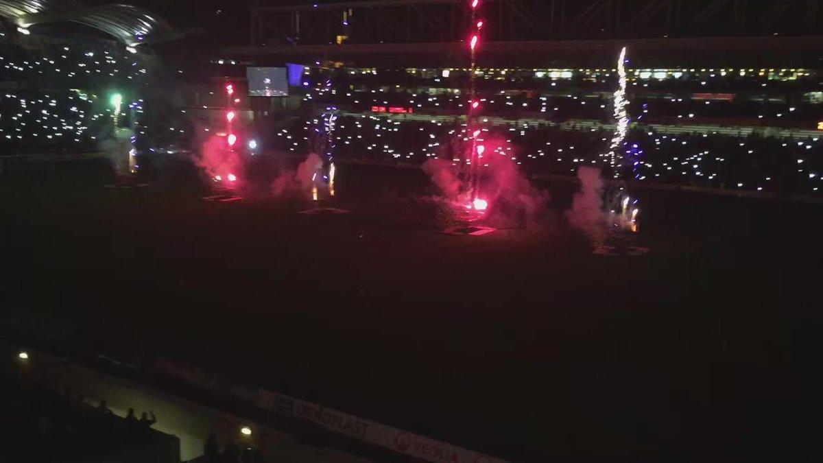 Superbe feu d'artifice pour clôturer ce dernier derby de rêve à Gerland ! OL 3, ASSE 0 !