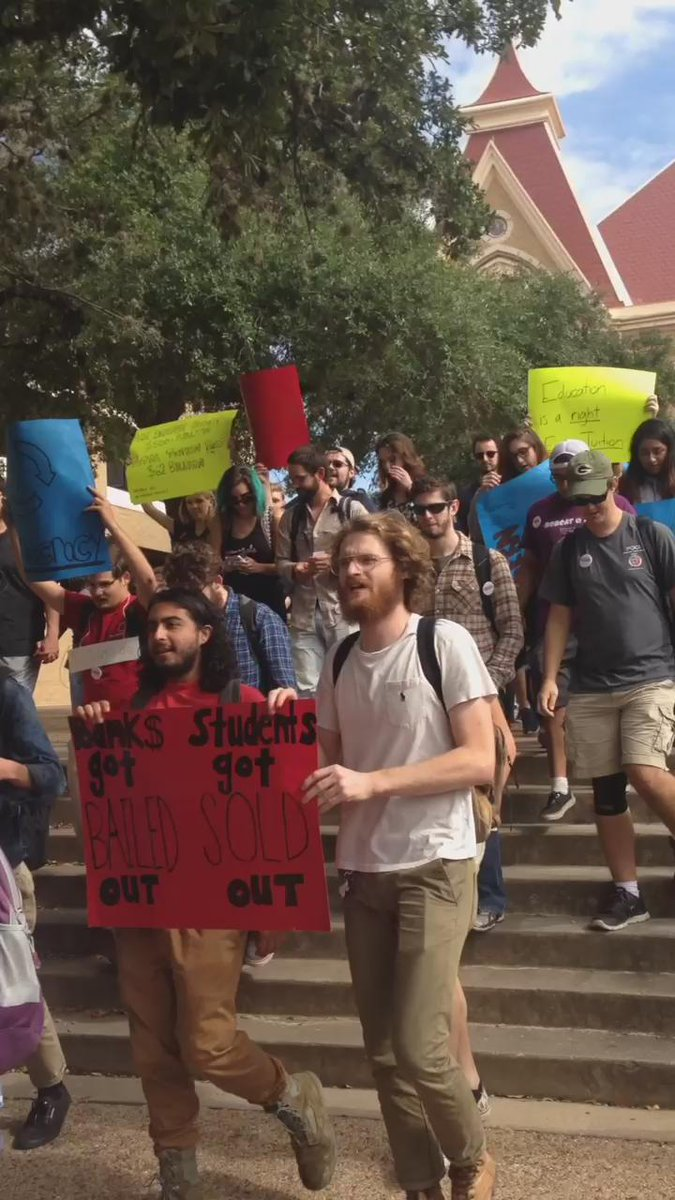 #TXST students gather to march for free education  #MillionStudentMarch https://t.co/PCqBmQLlyg