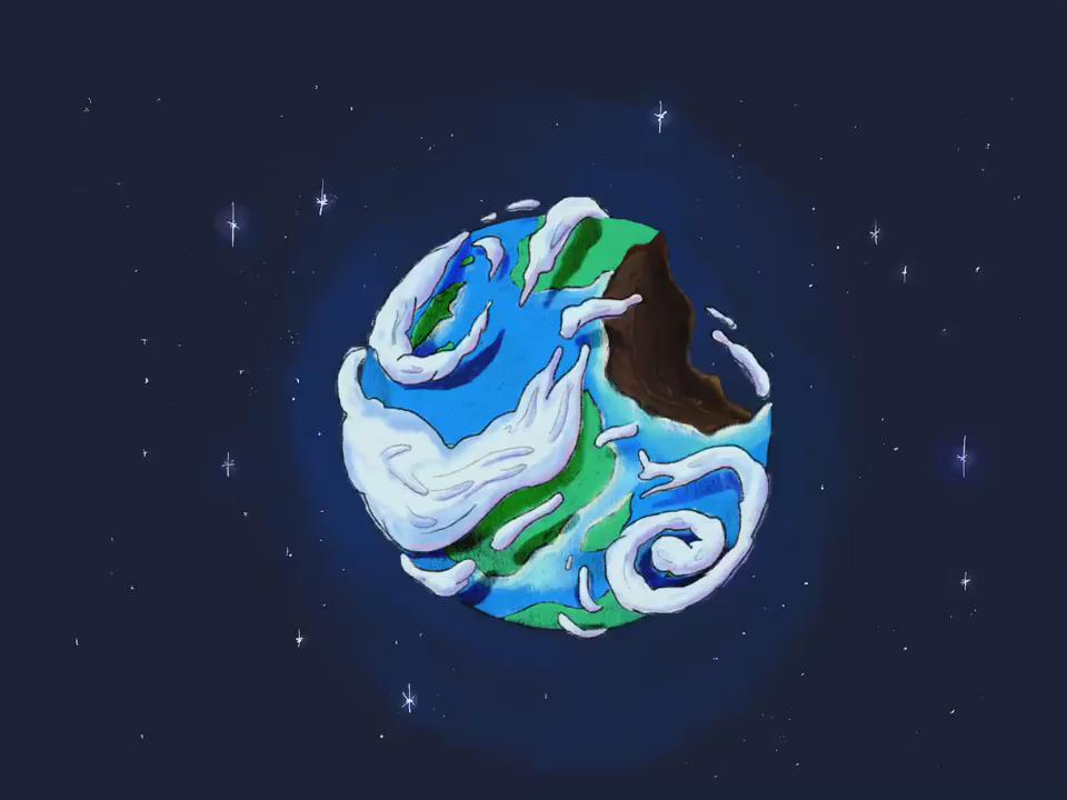 Fun in Procreate with Apple Pencil drawing Earth from AT. I love that pencil. https://t.co/taFCNogCMi