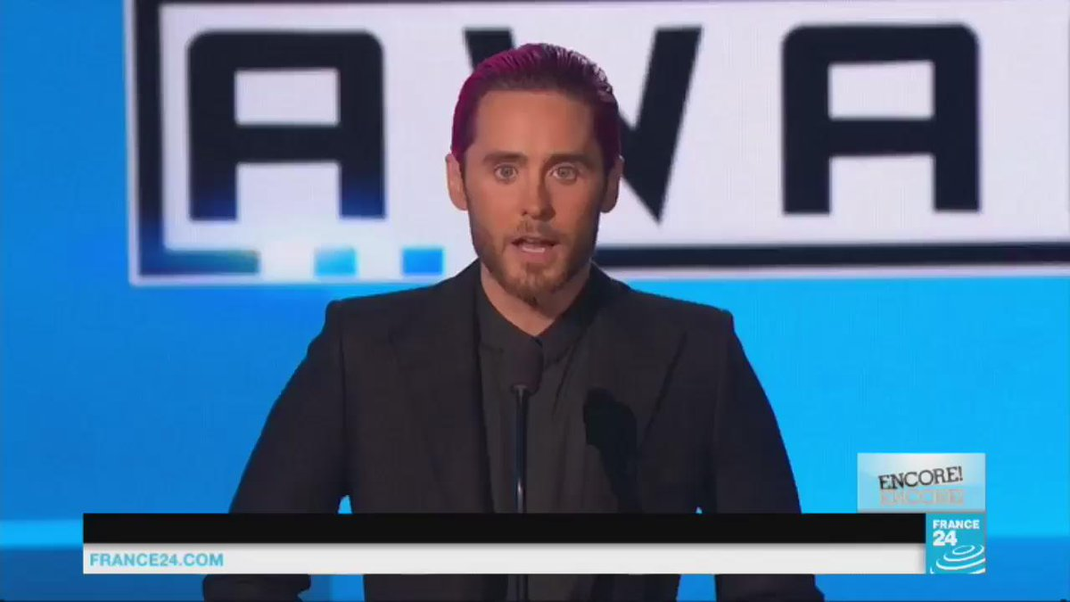 #ParisAttacks: Jared #Leto pays a stirring tribute to the victims at the American Music Awards #AMA @JaredLeto