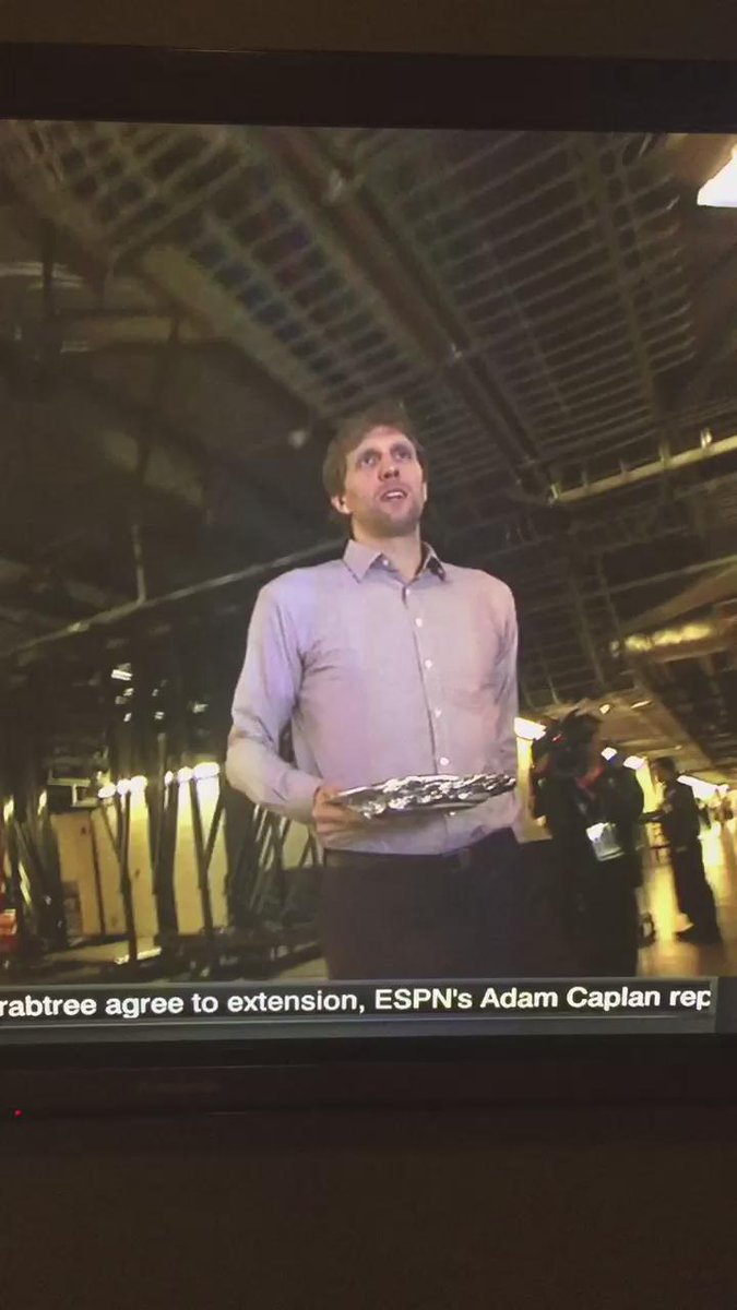 You know dirk married to a black woman. He walked into a basketball arena with a to go plate. https://t.co/o7NDmPoS7n