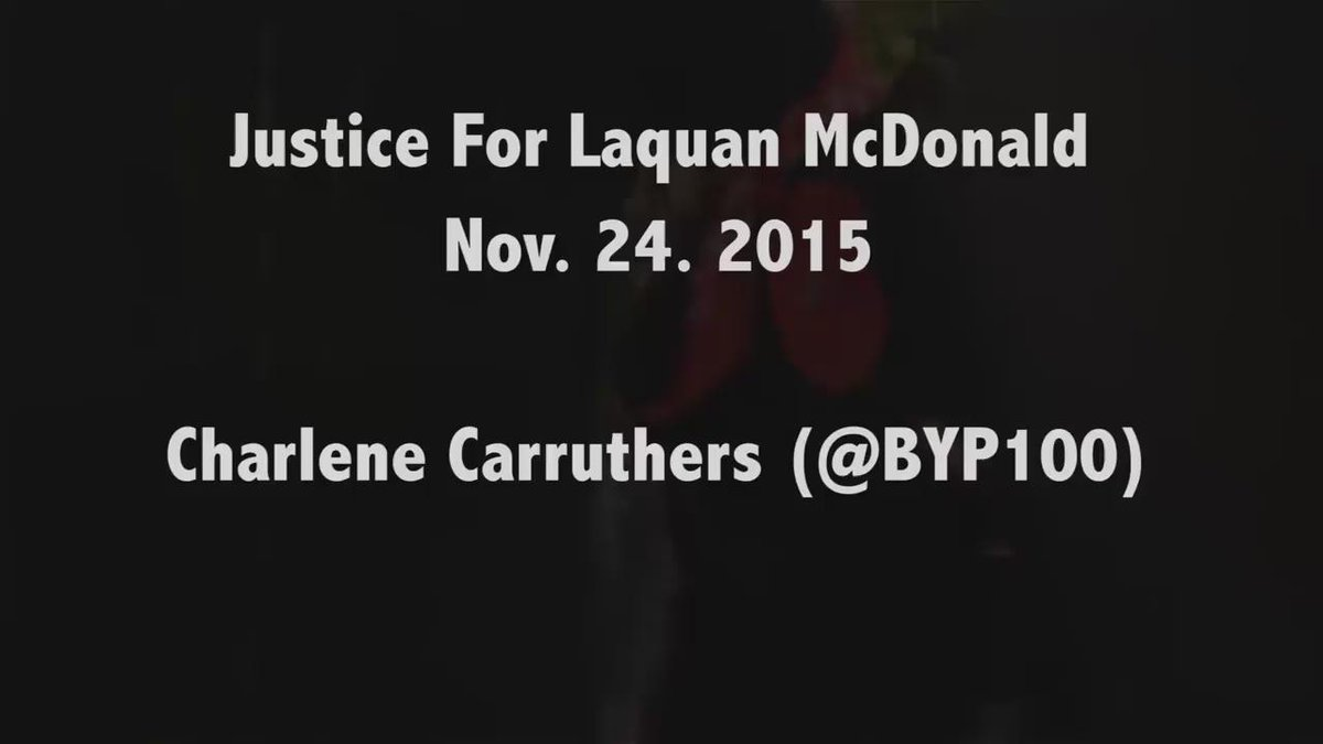 "(VIDEO Pt. 1) Charlene Carruthers @ JusticeForLaquan action: ""They shot him dead, and we aint supposed to be mad?"" https://t.co/hiipVocZM9"