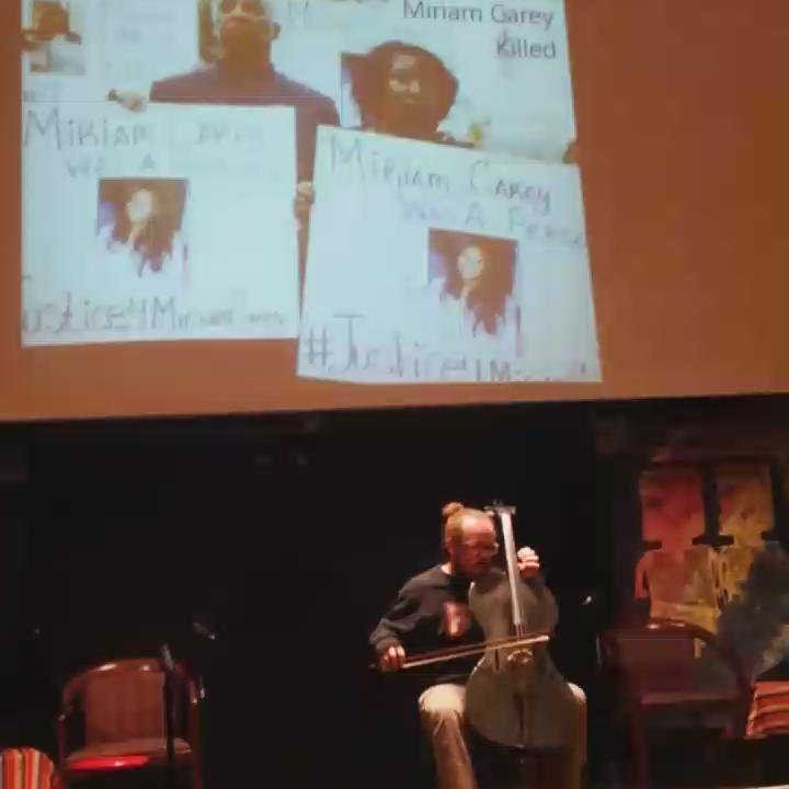Jacob Cohen on cello #OpenSeason2015 #SayHerName #HumanRightsDay https://t.co/fY283aOk3x