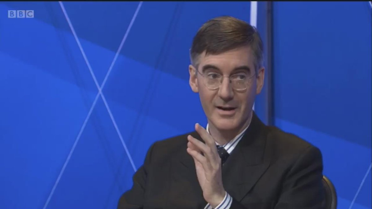 The most brilliant moment on #bbcqt ever. Jacob Rees Mogg's reply floors Dimbleby https://t.co/CjfxId2WuM