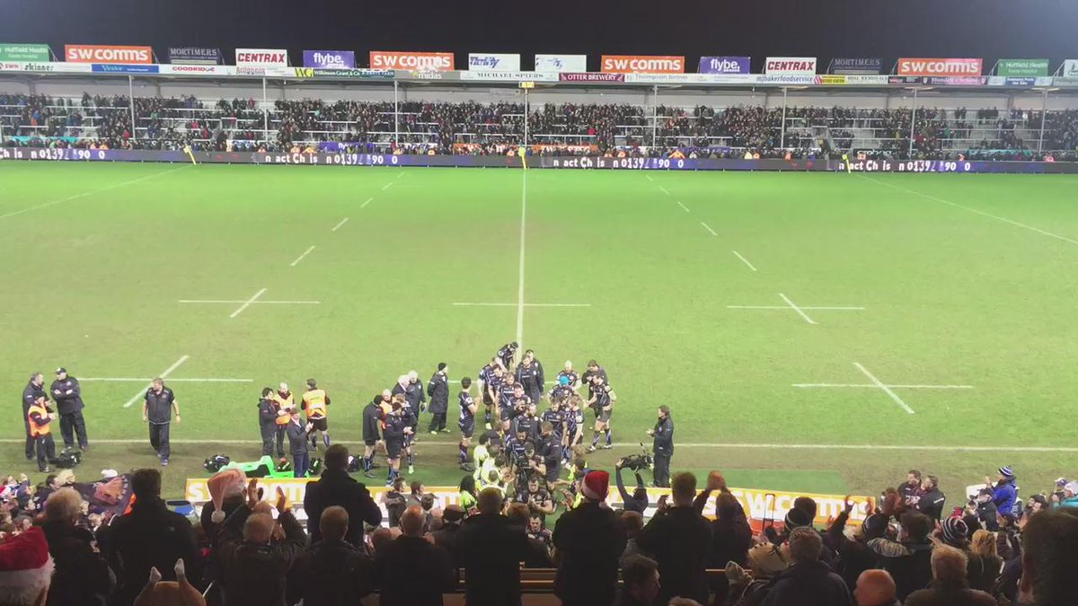 What a game!!!!! 33-17 to @ExeterChiefs #happychristmas  Listen to this great piece of #tomahawkchop