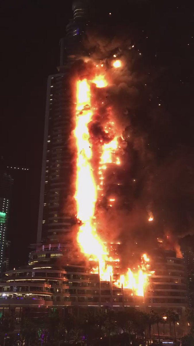 """@abdullah_omar: Video of the fire raging, slightly earlier this evening #Dubai #AddressFire https://t.co/906cXbAUmQ"""