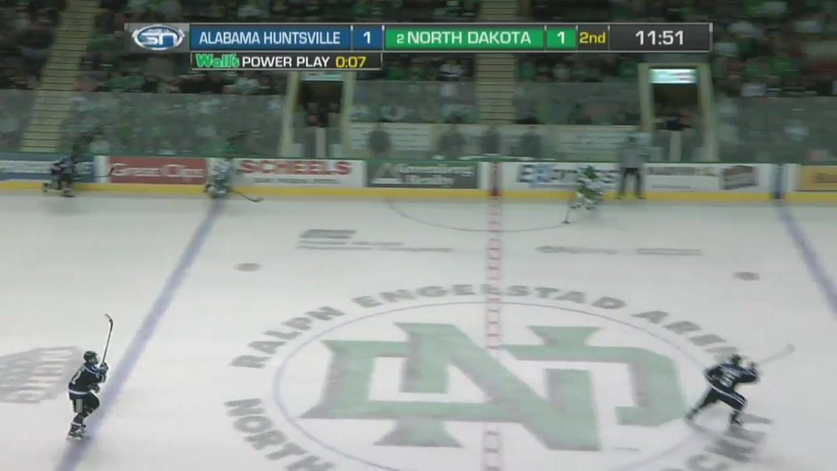 VIDEO: Drake Caggiula has done it again. Another highlight-reel goal. #UNDproud https://t.co/XZM3jFfFdu