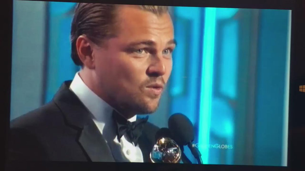 Leonardo DiCaprio thanking First Nation/Indigenous Community during acceptance speech https://t.co/qLULbP4bR5