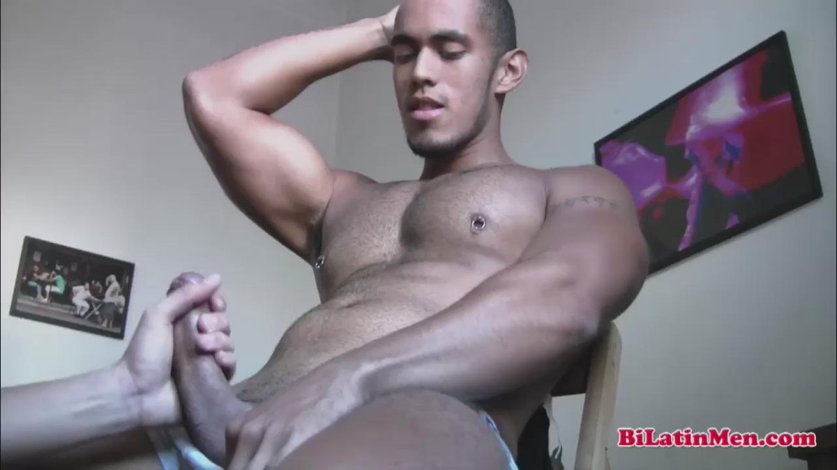 Beefy Italian Body Guard Stroking His Big Thick Uncut Cock