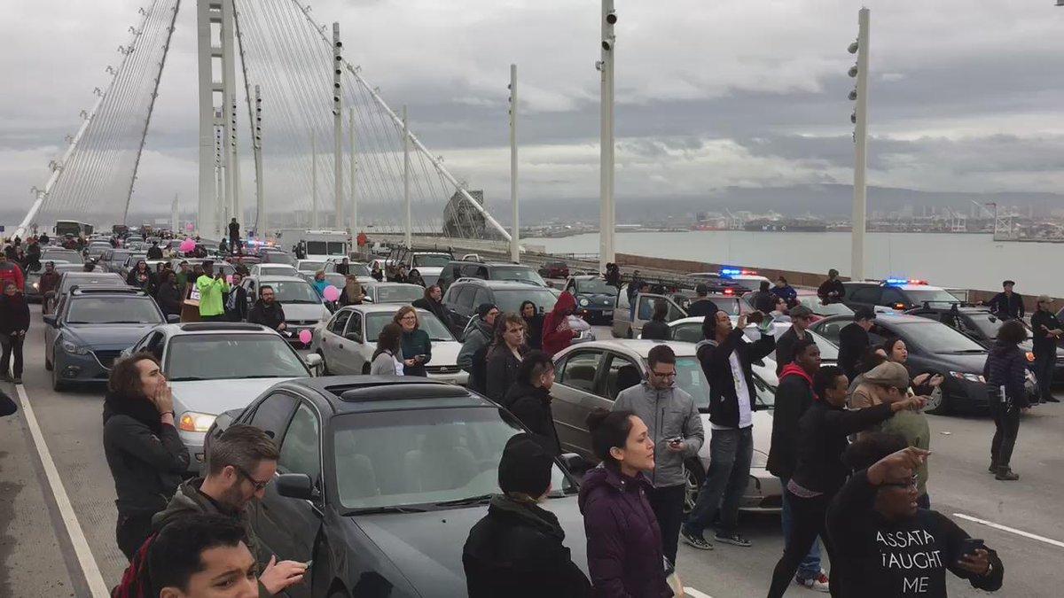 Black Lives Matter protesters block San Francisco's Bay Bridge