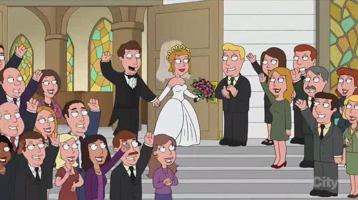 When guys get married. Family Guy though