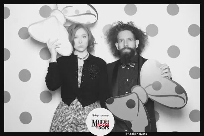 This is how @theyearofelan & I #RockTheDots w/ @MinnieStyle & @Refinery29 #GoodTimes https://t.co/qk