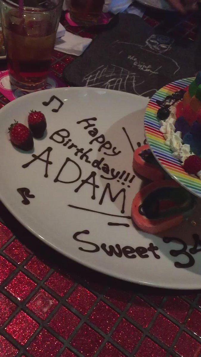 OMG!! Kawaii Monster Cafe plays @adamlambert #TheOriginalHigh for his birthday!!!!!