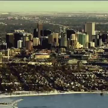 What's better than a great shot of the Denver skyline? A skyline with some extra orange and blue. BroncosCountry