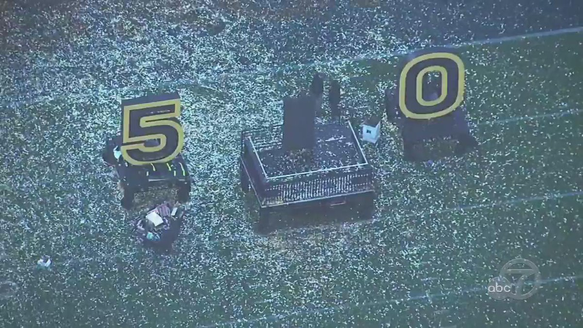 Here's the view from Sky7 HD over SB50 cleanup at LevisStadium. POSTGAME PHOTOS