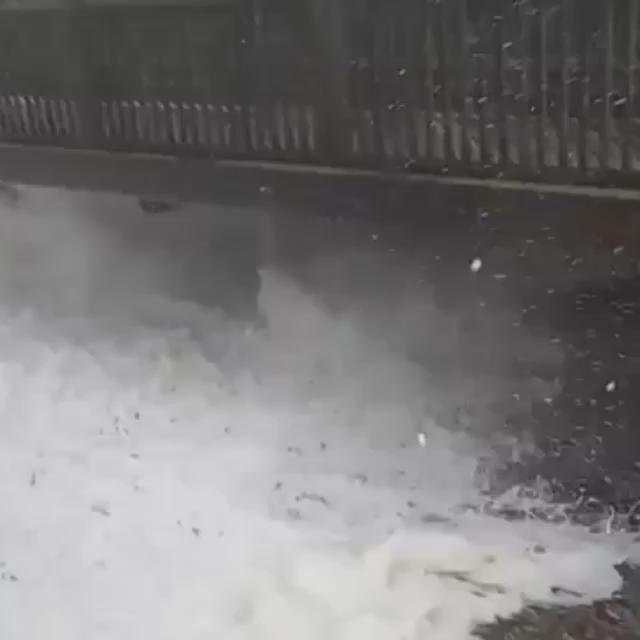 A viewer sent me this video of high tide in Humarock