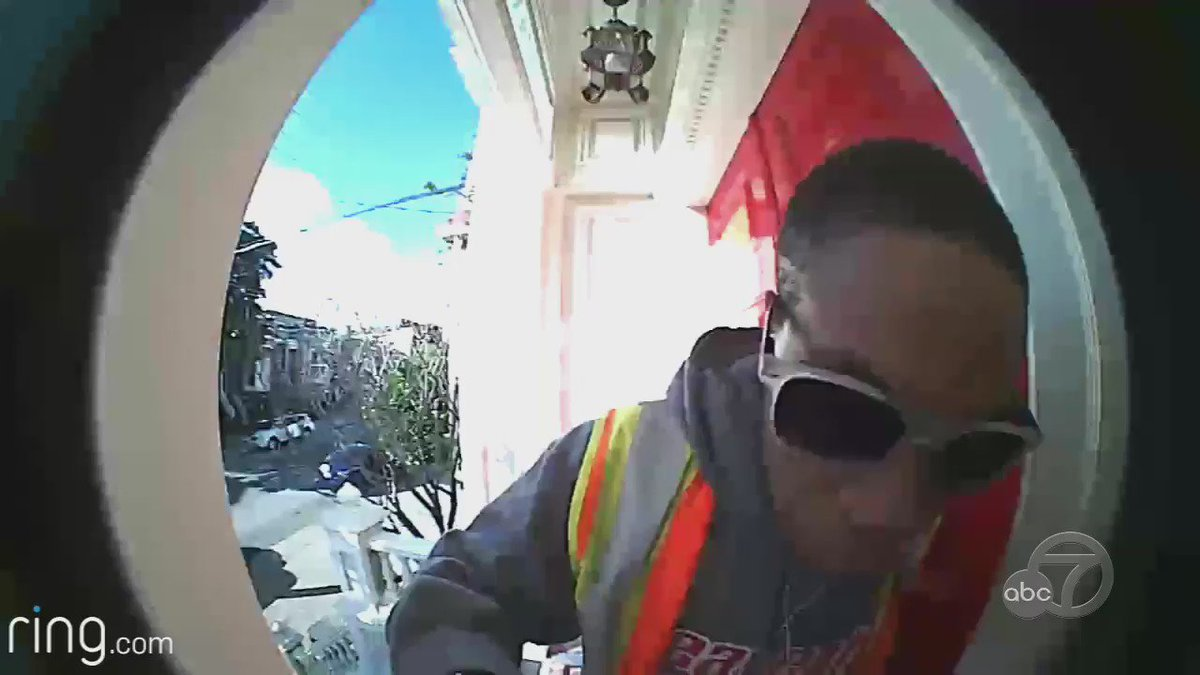 $10,000 reward: Know him? He's accused of taking mail from SF home while wearing PG&E vest.