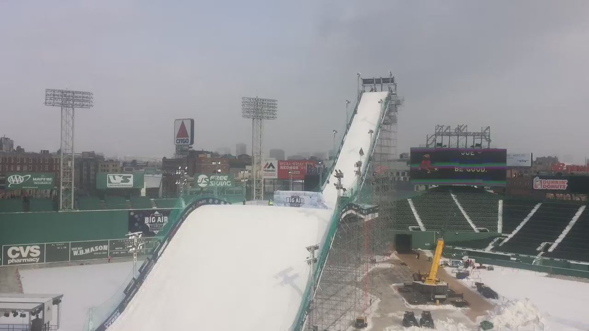 Here's another look. A better view of how the top of the run sizes up with the lights on the Green Monster.
