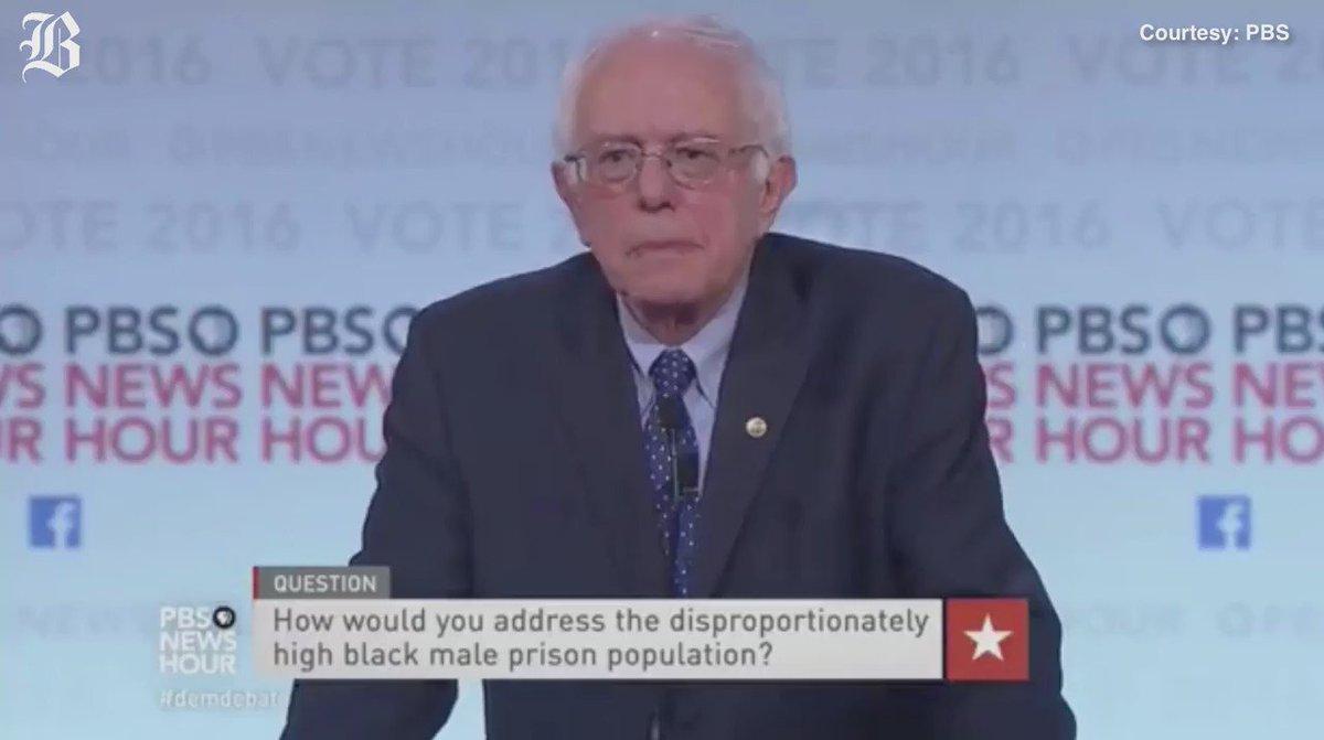 @BernieSanders on criminal justice system. DemDebate. Watch live