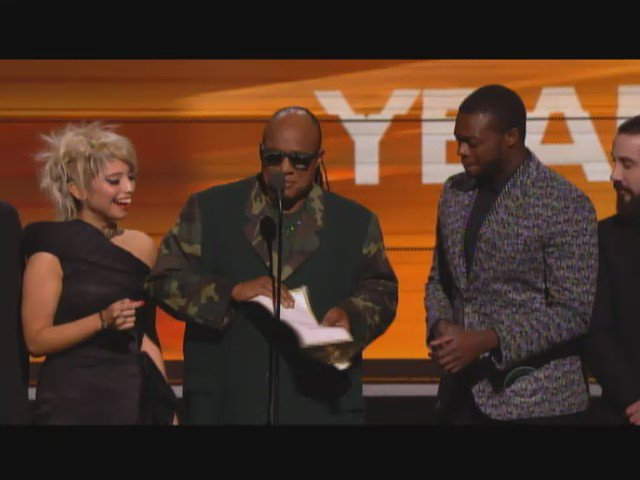 Nailed It #StevieWonder -- So perfectly done! @wusa9 @947FreshFM #Grammys -- Showing this to my @BestBuddies https://t.co/4dWmnBjWa4