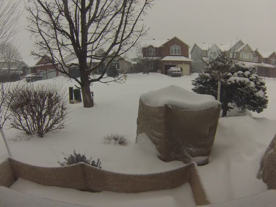 Excited about a possible cm of snow? Here's 50cm of the stuff...squeezed into 15secs. Ottawa, Canada by @ericdupere https://t.co/0vg3sUB8up