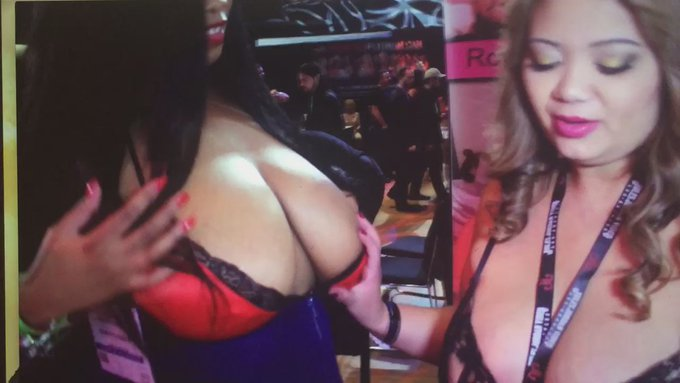 "AVN Behind the scenes clip coming to my video blog ""Feeling up Busty Cookie"" w/ #bbws @bustycookie &"