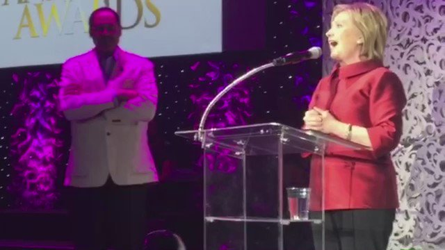 .@hillaryClinton stops by the #StellarAwards radio showcase https://t.co/LarpUOM4zm