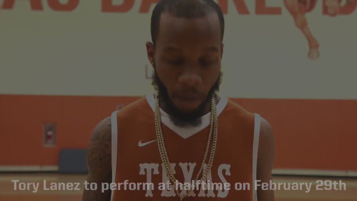 Huge news! @torylanez is set to perform during #halftime of the @TexasMBB game vs. Kansas on Feb. 29! #PacktheDrum https://t.co/uZeA3OZvHn