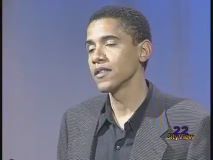 That time a young Barack Obama said American culture is black culture and has to be 'affirmed.' #BlackHistoryMonth https://t.co/Mfgh7HszwG