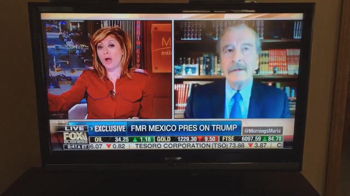 "Mexican president tells a Fox anchor that  Mexico is not paying for that ""fucking wall"" on live tv https://t.co/9R4b7XuPiL"