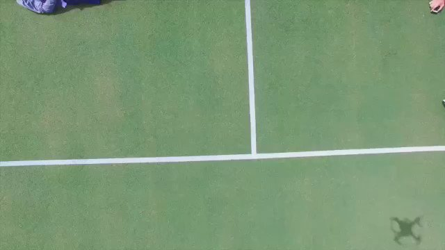 With a little choreography, a drone, and some team unity........ #usdaviscupteam