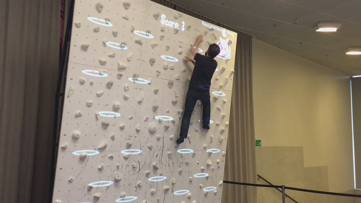 Playing the climbing game from https://t.co/WJzpxG0eKv at #ixd16 / @BoulderBrighton https://t.co/cKYvgm5AIL