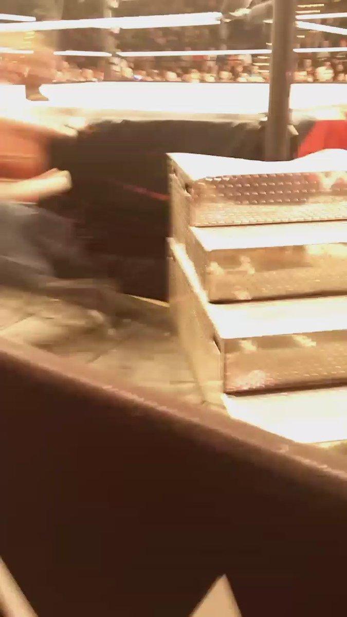 Ambrose ouchie #WWECedarRapids https://t.co/K4xOGigBmk