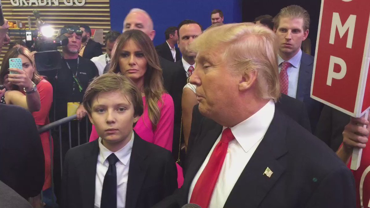 """VIDEO: Trump to @DylanByers on @MichelleFields incident. """"I think she made it up."""" https://t.co/VUB5LnbrTM"""
