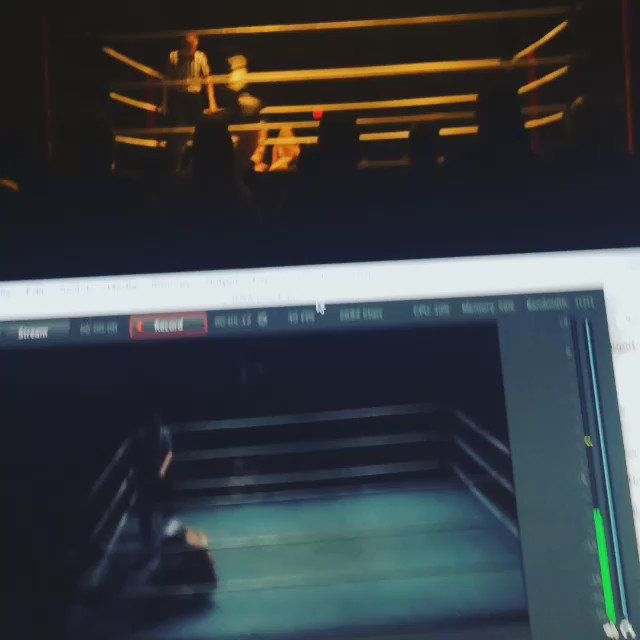 Behind the scenes at @iwcwrestling with @dylan_bostic in the ring! #IWC15 #videoproduction #ProWrestling https://t.co/3yR3bRFf8T