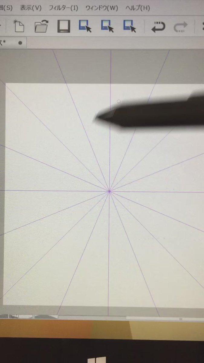 クリスタの対称定規の対称線を16本に設定すると一瞬で魔法陣とかレースとか描けるし、12本にすると氷の結晶も描ける。 何も考えずにグチャグチャって描くだけなのに綺麗でしょ……!