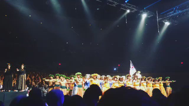 The KS Kapālama haumāna perform a powerful mele, Kū Ha'aheo, written by 1990 KS Alum Hinaleimoana Wong-Kalu #KSSong https://t.co/AJdTWdT8zT