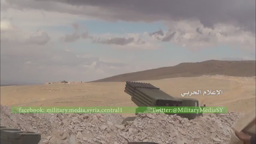 SAA shelling ISIS/Daesh positions and continues to advance in East Homs, Syria
