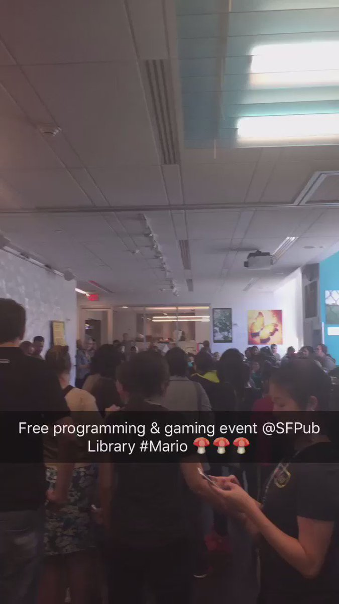 Shouts 2 #TheMix @SFPublicLibrary + @NintendoAmerica Free Community Event til 6pm!! #Gaming + #Education! #WarpZone