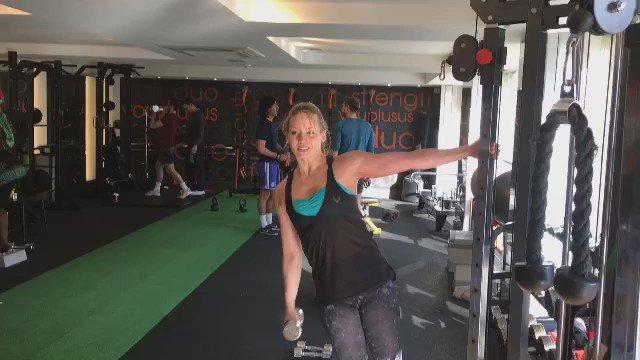 RT @woletraining: Love training @KimberlyKWyatt from our PT studio @DUOchelsea. She's always smiling through the hard work! #celebrity http…